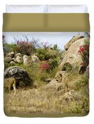 Hunting Lionesses Duvet Cover