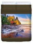 Hurricane River Sunset Duvet Cover