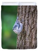 Huthatch Bird  Nut Pecker In The Wild On A Tree Duvet Cover
