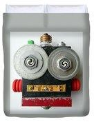Hypno Bot Duvet Cover by Jen Hardwick