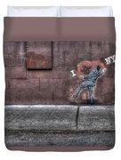 I Heart Ny Street Art 4 Duvet Cover