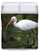 Ibis In The Marsh Duvet Cover