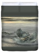 Ice In The Surf Duvet Cover