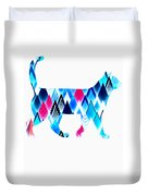 Ice Triangles Cats Duvet Cover