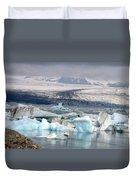 Iceland Glacier Lagoon Duvet Cover by Ambika Jhunjhunwala