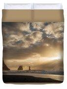 Icelandic Seascape Duvet Cover