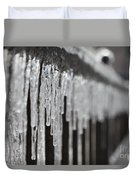Icicles At Attention Duvet Cover