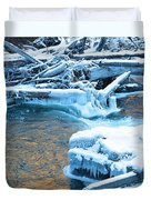Icy Blue River Duvet Cover