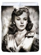 Ida Lupino, Vintage Actress Duvet Cover