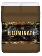 Illuminati Pop Art By Mary Bassett Duvet Cover