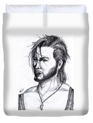 Imaginative Portrait Drawing  Duvet Cover