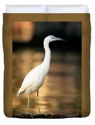 Immature Little Blue Heron Duvet Cover