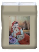 Indian Rajasthani Woman Duvet Cover