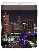 Indianapolis Canal View Duvet Cover