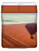 inflated Hot air balloon Duvet Cover
