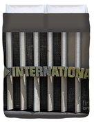 International Semi Truck Emblem Duvet Cover