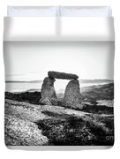 Inukshuk At Sunset, Terence Bay, Nova Scotia Duvet Cover