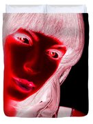 Inverted Realities - Red  Duvet Cover
