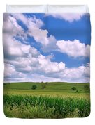 Iowa Cornfield Duvet Cover