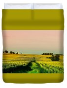 Iowa Cornfield Panorama Duvet Cover