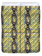 Iron Chains With Glazed Tiles Seamless Texture Duvet Cover
