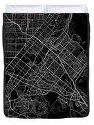 Irvine California Usa Dark Map Duvet Cover