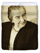 Israel Prime Minister Golda Meir 1973 Duvet Cover