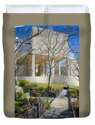 J Paul Getty Museum Garden Terrace Duvet Cover