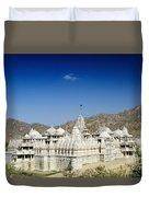 Jain Temple Of Ranakpur Duvet Cover