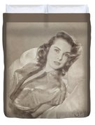 Janet Leigh, Vintage Actress Duvet Cover