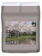 Japanese Cherry Blossom Trees Duvet Cover