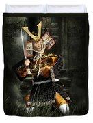 Japanese Samurai Doll Duvet Cover