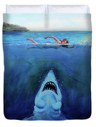 Jaws  Revisited Duvet Cover
