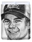 Jeff Gordon In 2010 Duvet Cover by J McCombie