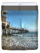 Jennettes Pier Nags Head North Carolina Duvet Cover