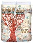 Jerusalem -watercolor On Parchment Duvet Cover