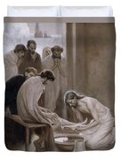 Jesus Washing The Feet Of His Disciples Duvet Cover
