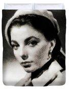 Joan Collins, Actress Duvet Cover