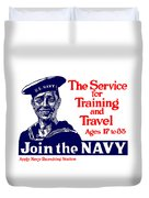 Join The Navy - The Service For Training And Travel Duvet Cover