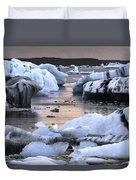 Jokulsarlon Glacier Lagoon Iceland 2050 Duvet Cover