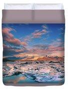 Jokulsarlon Glacier Lake - Iceland Duvet Cover