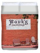 Jonesborough Tennessee Mauk's Store Duvet Cover