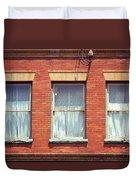 Jonesborough Tennessee Three Windows Duvet Cover