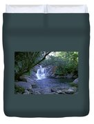 Josephine Falls And Tropical Pool Duvet Cover