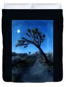 Joshua Trees At Night Duvet Cover