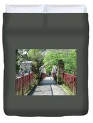 Jubilee Bridge - Matlock Bath Duvet Cover