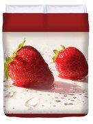 Juicy Strawberries Duvet Cover