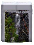 Kakabeka Falls, Low Water Duvet Cover