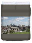 Kansas City Skyline Duvet Cover