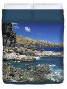 Kayaking Along Coastline Duvet Cover
